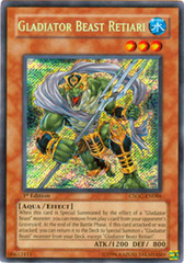 Gladiator Beast Retiari - CSOC-EN086 - Secret Rare - Unlimited Edition