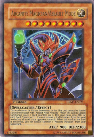 Arcanite Magician/Assault Mode - CRMS-EN021 - Ultra Rare - Unlimited Edition