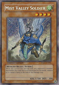 Mist Valley Soldier - HA01-EN006 - Secret Rare - Unlimited Edition