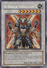X-Saber Urbellum - HA01-EN025 - Secret Rare - Unlimited Edition