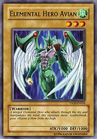 Elemental Hero Avian - YSDJ-EN005 - Common - Unlimited Edition