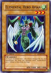Elemental Hero Avian - DP1-EN001 - Common - Unlimited Edition