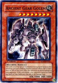 Ancient Gear Golem - SD10-EN012 - Common - Unlimited Edition