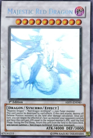 Majestic Red Dragon - Ghost Rare - ABPF-EN040 - Ghost Rare - Unlimited