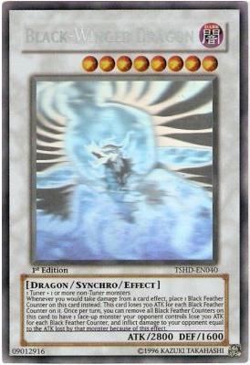Black-Winged Dragon - TSHD-EN040 - Ghost Rare - Unlimited Edition