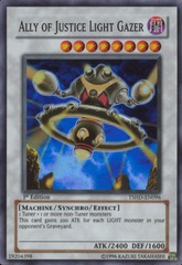 Ally of Justice Light Gazer - TSHD-EN096 - Super Rare - Unlimited Edition on Channel Fireball