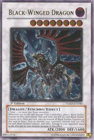 Black-Winged Dragon - TSHD-EN040 - Ultimate Rare - Unlimited Edition
