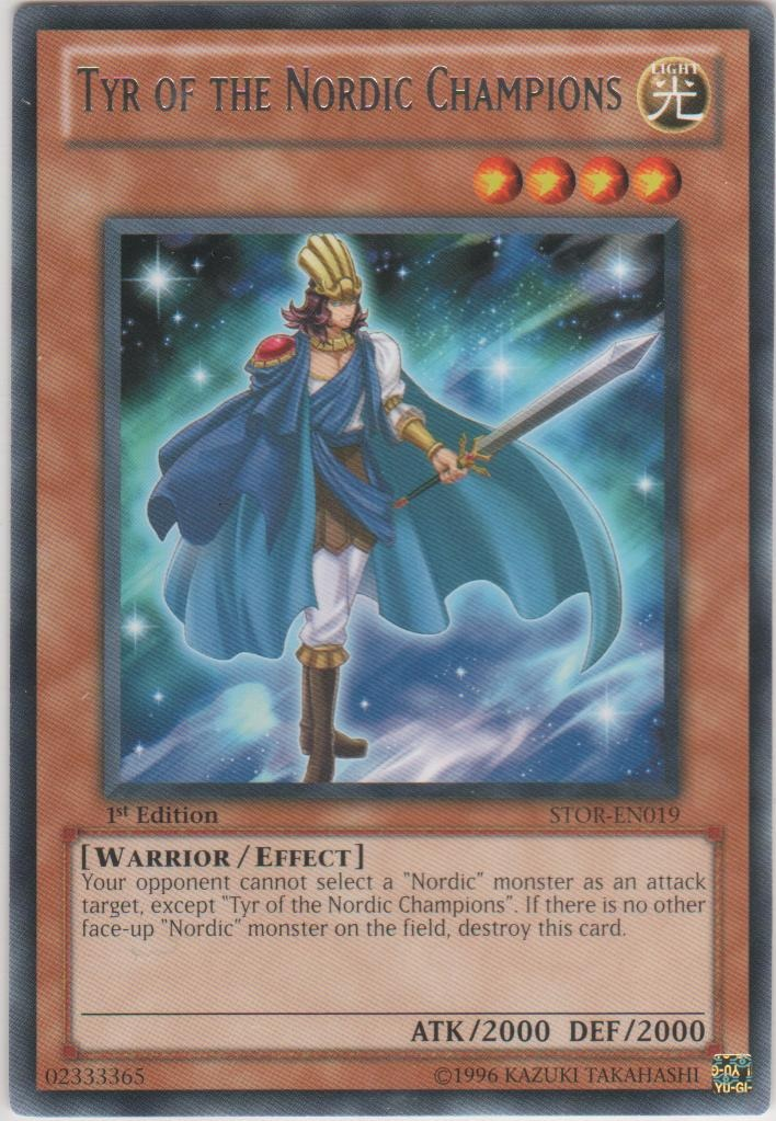 Tyr of the Nordic Champions - STOR-EN019 - Rare - Unlimited Edition