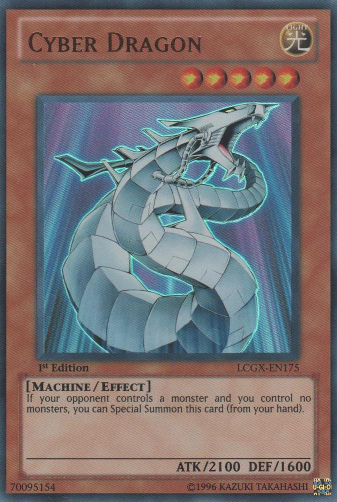 Cyber Dragon - LCGX-EN175 - Ultra Rare - 1st Edition