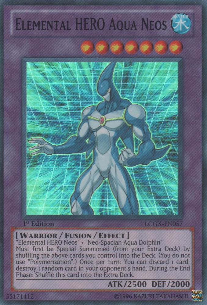 Elemental HERO Aqua Neos - LCGX-EN057 - Super Rare - 1st Edition