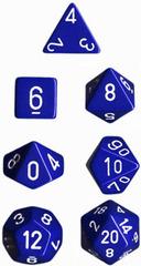 Blue/White Opaque d4 - PQ0406