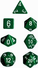 Green/White Opaque d20 - PQ2005