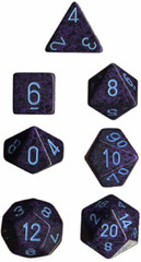 Cobalt Speckled d20 - PS2053