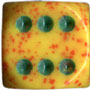 36mm Speckled d6 Lotus w/ spots - DS3616