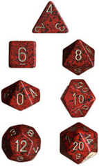 34mm Speckled d20 Golden Strawberry - XS2097
