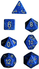 34mm Speckled d20 Golden Water - XS2098