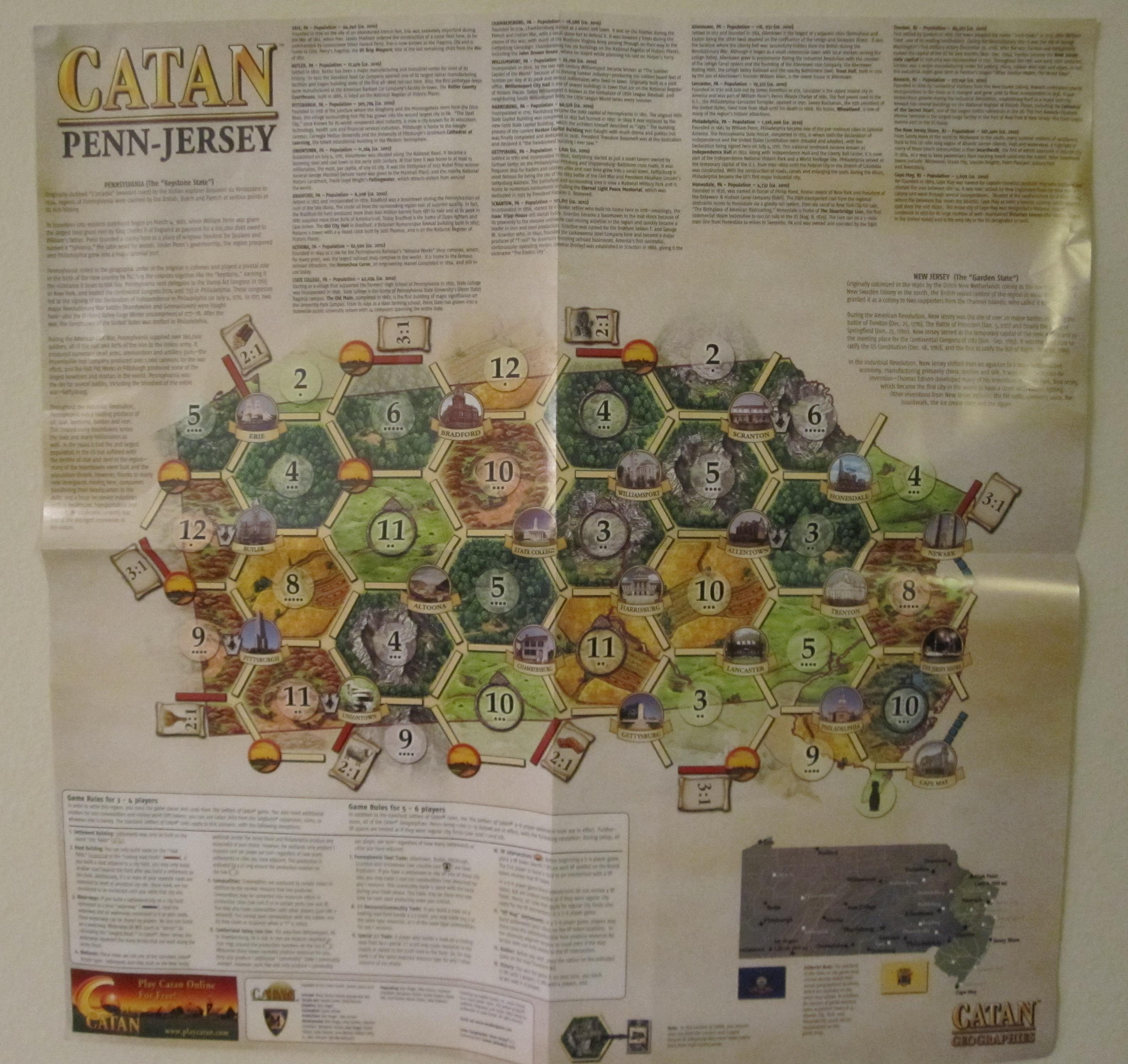 Catan Geographies: Penn-Jersey