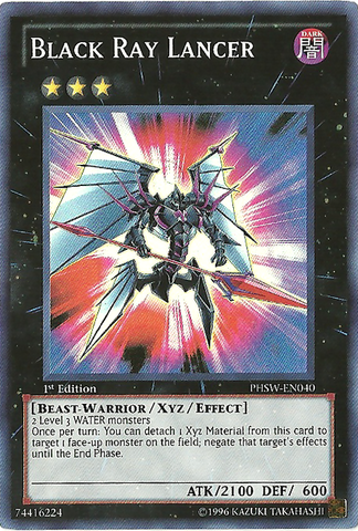 Black Ray Lancer - PHSW-EN040 - Super Rare - 1st Edition
