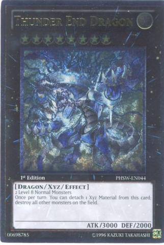 Thunder End Dragon - PHSW-EN044 - Ultimate Rare - 1st Edition