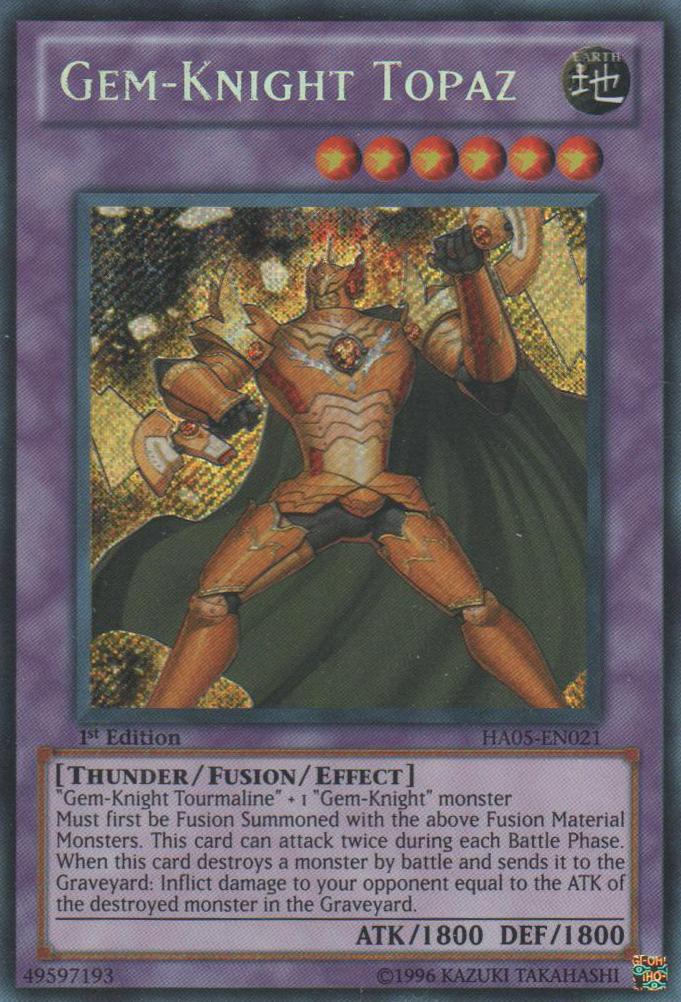 Gem-Knight Topaz - HA05-EN021 - Secret Rare - 1st Edition