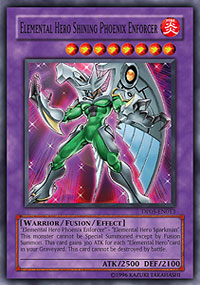 Elemental Hero Shining Phoenix Enforcer - DP05-EN013 - Super Rare - Unlimited Edition