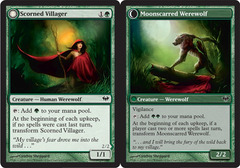 Scorned Villager // Moonscarred Werewolf - Foil