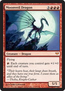 Moonveil Dragon - Foil