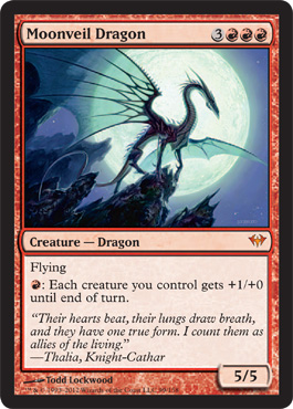 Moonveil Dragon - Foil