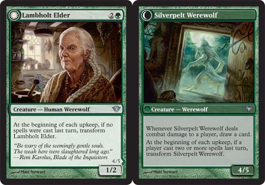 Lambholt Elder // Silverpelt Werewolf - Foil