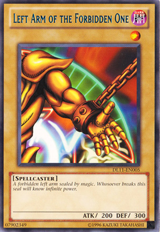 Left Arm of the Forbidden One - Blue - DL11-EN005  - Rare - Unlimited Edition