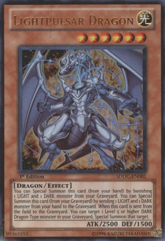 Lightpulsar Dragon - SDDC-EN001 - Ultra Rare - 1st Edition
