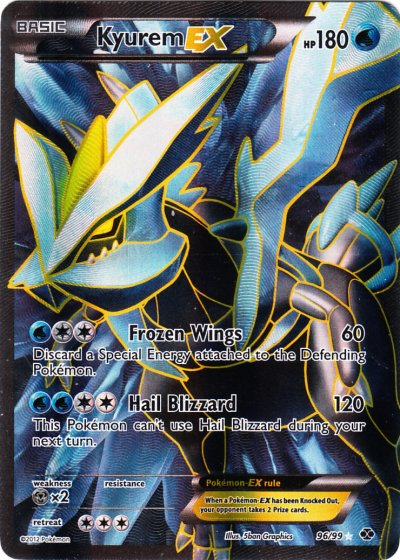 Kyurem-EX - 96/99 - Full Art Ultra Rare