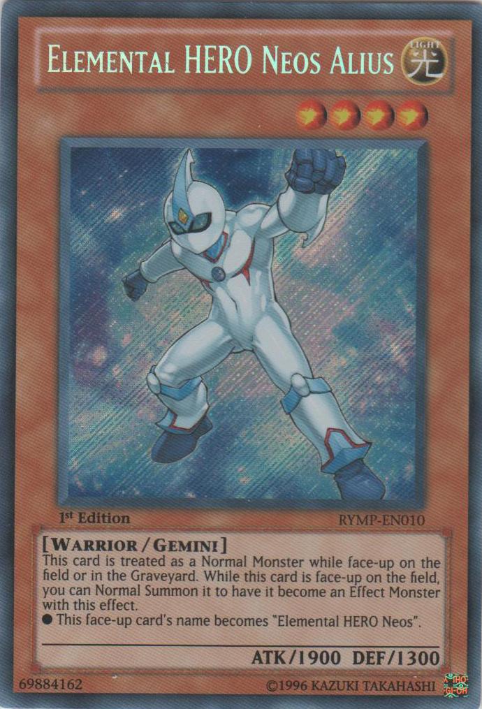Elemental HERO Neos Alius - RYMP-EN010 - Secret Rare - 1st Edition