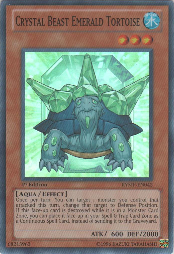 Crystal Beast Emerald Tortoise - RYMP-EN042 - Super Rare - 1st Edition