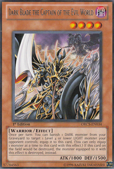 Dark Blade the Captain of the Evil World - ORCS-EN034 - Rare - Unlimited Edition