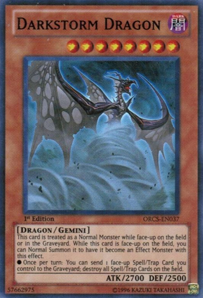 Darkstorm Dragon - ORCS-EN037 - Super Rare - Unlimited Edition