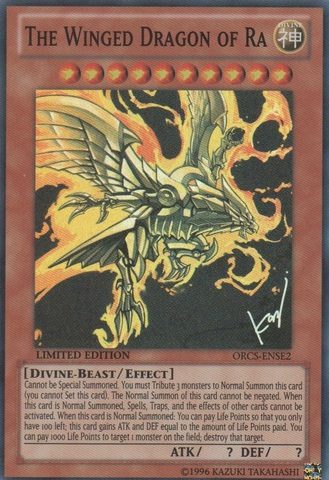The Winged Dragon of Ra - ORCS-ENSE2 - Super Rare - Limited Edition