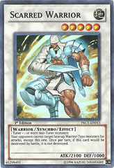 Scarred Warrior - PRC1-EN013 - Super Rare - 1st Edition - Promo