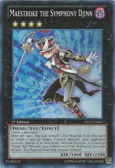 Maestroke the Symphony Djinn - YS12-EN043 - Super Rare - 1st Edition on Channel Fireball
