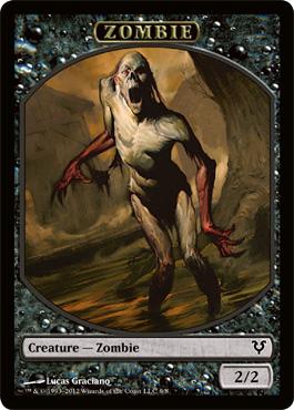 Zombie Token Magic Singles Innistrad Block Avacyn Restored