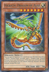 Hieratic Dragon of Asar - GAOV-EN024 - Rare - 1st Edition
