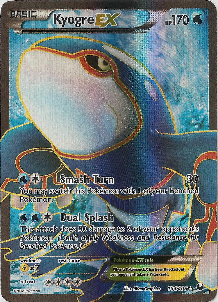 Kyogre-EX - 104/108 - Full Art Ultra Rare