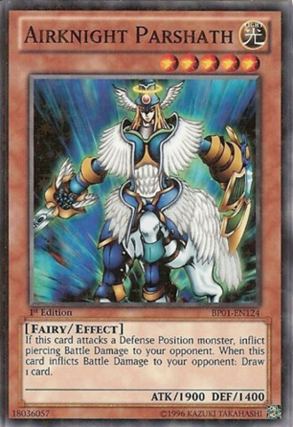Airknight Parshath - BP01-EN124 - Starfoil Rare - 1st Edition