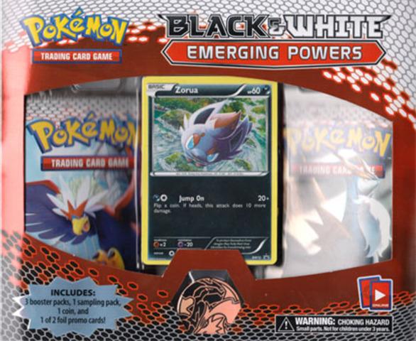 Pokemon Black & White BW2 Emerging Powers 3-Booster Blister Pack - Zorua Promo
