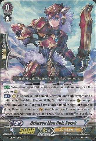 Crimson Lion Cub, Kyrph - BT06/035EN - R