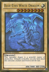 Blue-Eyes White Dragon - GLD5-EN001 - Ghost/Gold Hybrid Rare - Limited Edition on Channel Fireball