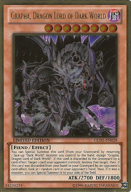 Grapha, Dragon Lord of Dark World - GLD5-EN028 - Gold Rare - Limited Edition