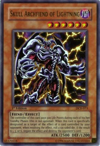 Skull Archfiend of Lightning - DCR-073 - Ultra Rare - 1st Edition