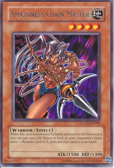 Amazoness Chain Master - DLG1-EN098 - Rare - Unlimited Edition