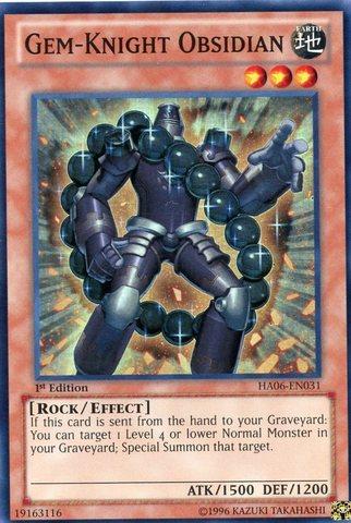 Gem-Knight Obsidian - HA06-EN031 - Super Rare - 1st Edition